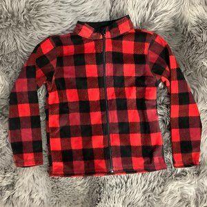 Toughskins | Boy's Micro Fleece Sweater | Plaid